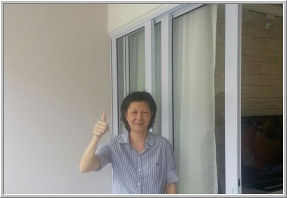 Glass Door in Balcony