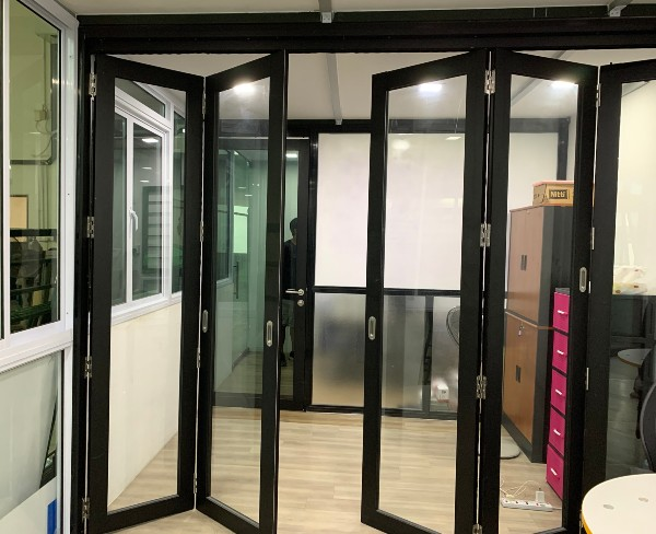 Black Frame Door in Singapore Showroom