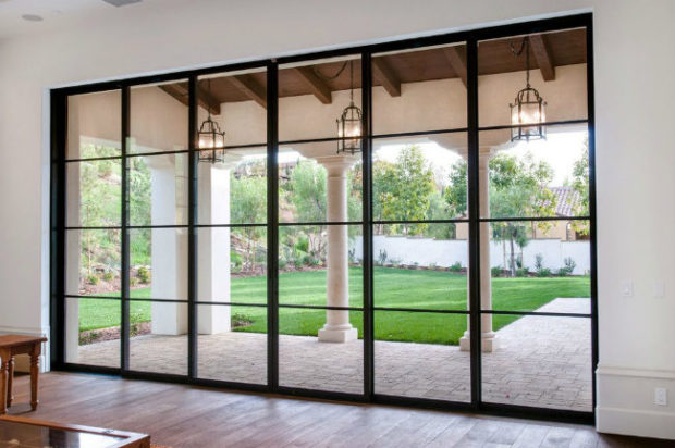French Glass doors with black frames
