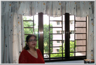 Brown Window Frames and Grilles