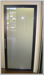 Frosted Glass Swing Door