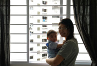 Woodlands HDB with horizontal grilles