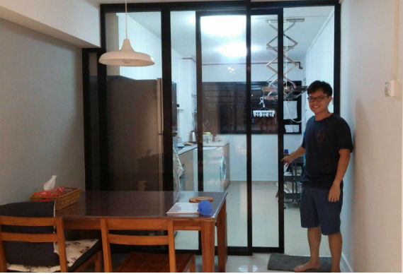Black Frame Sliding Glass Door