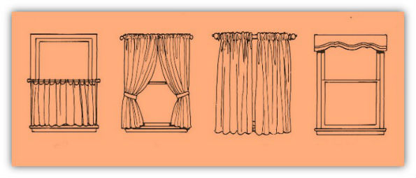 style of window curtains