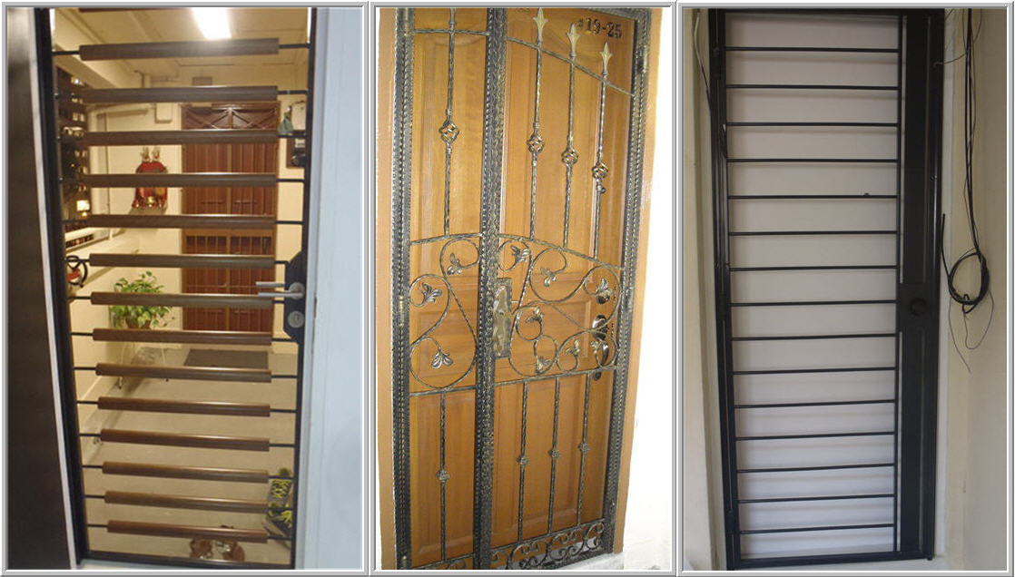 Door gates singapore for Door gate design