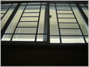Window Grilles on aluminium window frames designs