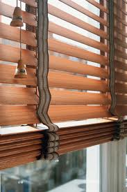 Windows with horizontal blinds